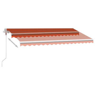 vidaXL Automatická markýza LED a senzor větru 450x300 cm oranžovohnědá