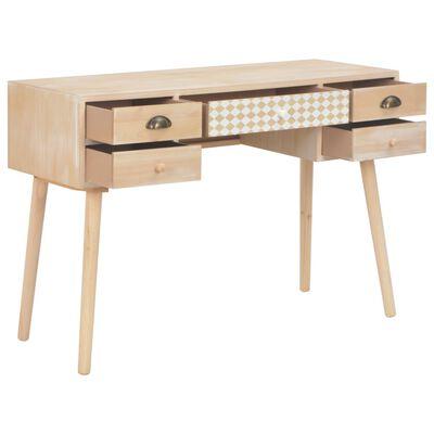 vidaXL Psací stůl s 5 zásuvkami 114 x 40 x 75,5 cm masivní borovice