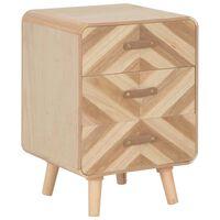 vidaXL Noční stolek se 3 zásuvkami 40 x 35 x 56,5 cm masivní dřevo