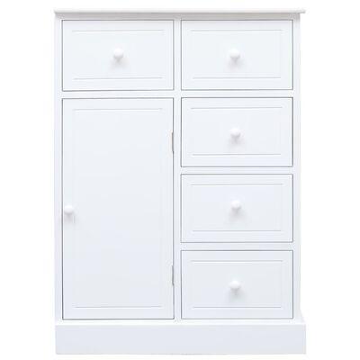 vidaXL Příborník s 10 zásuvkami bílý 113 x 30 x 79 cm dřevo