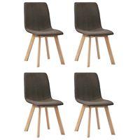 vidaXL Jídelní židle 4 ks hnědé textil
