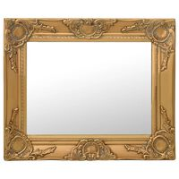 vidaXL Nástěnné zrcadlo barokní styl 50 x 40 cm zlaté
