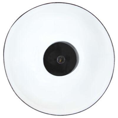 vidaXL Industriální závěsné svítidlo černé kulaté 32 cm E27 mangovník