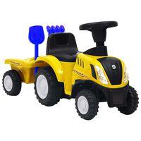 vidaXL Dětský traktor New Holland žlutý
