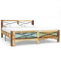 vidaXL Rám postele masivní recyklované dřevo 140 x 200 cm