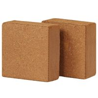 vidaXL Lisované kokosové vlákno 2 ks 5 kg 30 x 30 x 10 cm