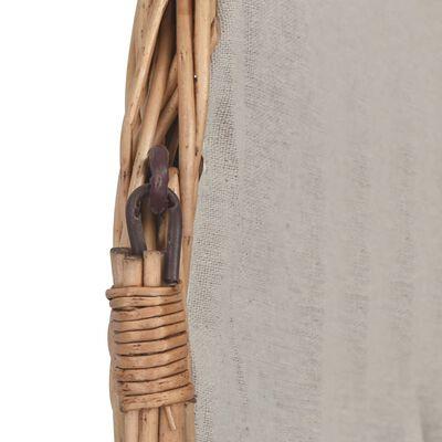 vidaXL Koš na dřevo s uchem 61,5 x 46,5 x 58 cm hnědý vrba