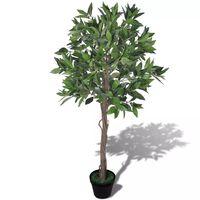 Umělý vavřínový strom v květináči 120 cm