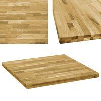 vidaXL Stolní deska z dubového masivu čtvercová 44 mm 80 x 80 cm
