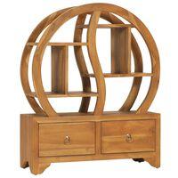 vidaXL Skříňka s policí Yin Yang 68 x 26 x 83 cm masivní teakové dřevo