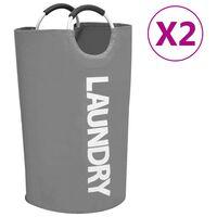 vidaXL Koš na třídění prádla 2 ks šedý