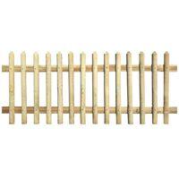 vidaXL Laťkový plot impregnovaná borovice 170 x 120 cm 5/7 cm
