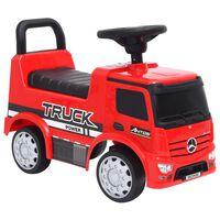 vidaXL Odrážedlo Mercedes-Benz náklaďák červené