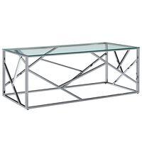 vidaXL Konferenční stolek průhledný 120x60x40 cm tvrzené sklo a ocel