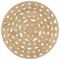 vidaXL Ručně vyrobený koberec ze splétané juty 120 cm
