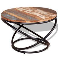 vidaXL Konferenční stolek masivní regenerované dřevo 60x60x40 cm