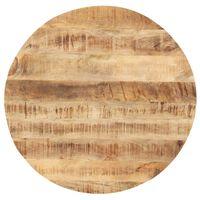 vidaXL Stolní deska masivní mangovníkové dřevo kulatá 25–27 mm 50 cm