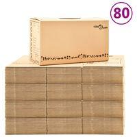 vidaXL Kartónové krabice na stěhování XXL 80 ks 60 x 33 x 34 cm