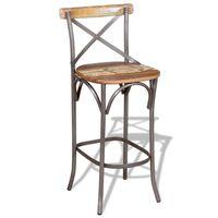 vidaXL Barová židle masivní recyklované dřevo
