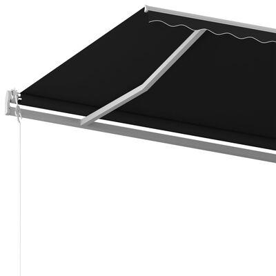 vidaXL Ručně zatahovací markýza 500 x 350 cm antracitová