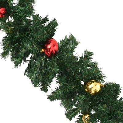 vidaXL Vánoční girlanda zdobená baňkami 20 m