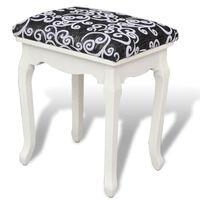 vidaXL Stolička k toaletnímu stolku černá textil