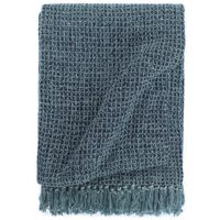 vidaXL Přehoz bavlna 125 x 150 cm indigově modrý