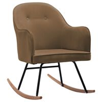 vidaXL Rocking Chair Brown Velvet