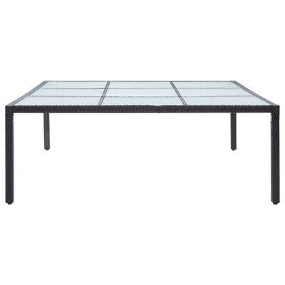 vidaXL Zahradní jídelní stůl černý 200 x 200 x 74 cm polyratan, Černý