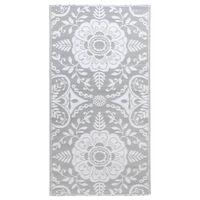 vidaXL Venkovní koberec světle šedý 120 x 180 cm PP
