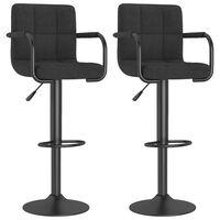 vidaXL Barové židle 2 ks černé textil
