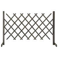 vidaXL Zahradní trelážový plot šedý 120 x 90 cm masivní jedle