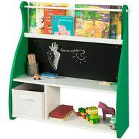 SoBuy KMB09-GR Dětský knižní regál s tabulí, dětský regál 86x90x25cm
