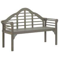 vidaXL Zahradní lavice šeděná 135 cm masivní akáciové dřevo