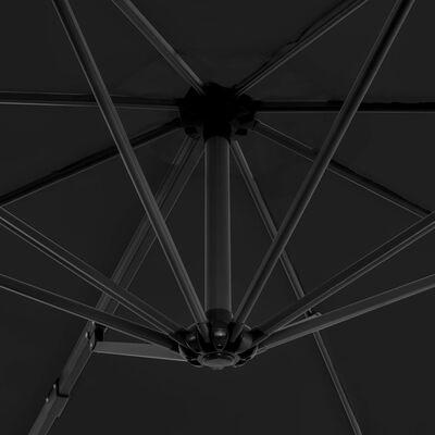 vidaXL Konzolový slunečník s hliníkovou tyčí 300 cm antracitový