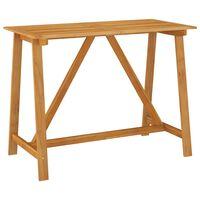 vidaXL Zahradní barový stůl 140 x 70 x 104 cm masivní akáciové dřevo