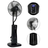 vidaXL Pedestal Mist Fan with Remote Controller Black