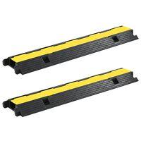 vidaXL Kabelové ochranné mosty 2 ks 1 kanálek gumové 100 cm