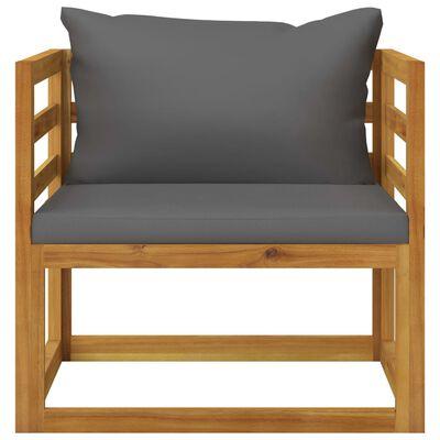 vidaXL 7dílná zahradní sedací souprava s poduškami masivní akácie