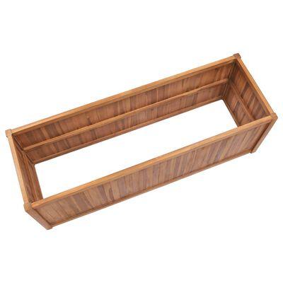 vidaXL Vyvýšený záhon 150 x 50 x 50 cm masivní teakové dřevo