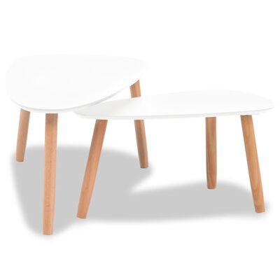 vidaXL Sada konferenčních stolků 2 ks masivní borovice bílá