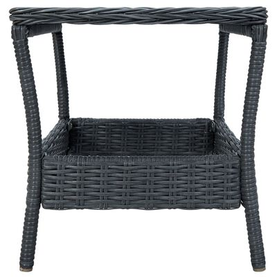 vidaXL 3dílná zahradní sedací souprava podušky polyratan tmavě šedá, Darkgrey