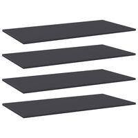 vidaXL Přídavné police 4 ks šedé 80 x 20 x 1,5 cm dřevotříska
