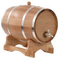 vidaXL Soudek na víno z masivního dubu s pípou 12 l