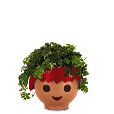 LECHUZA Stolní květináč OJO ALL-IN-ONE ohnivě rudý