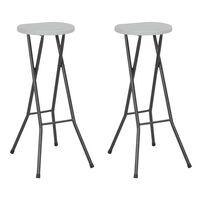 vidaXL Skládací barové stoličky 2 ks HDPE a ocel bílé