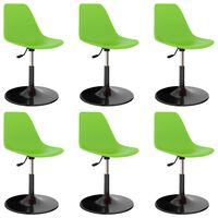 vidaXL Otočné jídelní židle 6 ks zelené PP