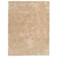 vidaXL Kusový koberec Shaggy 120 x 160 cm béžový