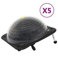 vidaXL Solární ohřívače bazénu 5 ks 75 x 75 x 36 cm HDPE hliník