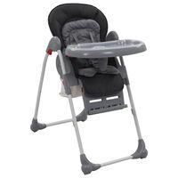 vidaXL Dětská jídelní židlička šedá